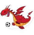 dragon footballer vector image vector image