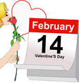 February 14 Valentines Day vector image vector image