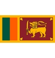Flag of Sri Lanka correct size and colors vector image