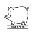 fresh pork vector image vector image