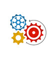 gear icon template or settings sign vector image