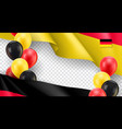 germany horizontal flyer with copy space vector image vector image