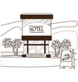 hotel rent outline on the theme of tourism vector image