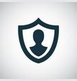 human shield insurance icon vector image vector image