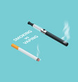 isometric vaping device and cigarettes the vector image vector image