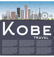 Kobe Skyline with Gray Buildings Blue Sky vector image vector image