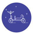lunar rover icon in thin line style vector image