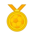 Medal in football icon cartoon style vector image vector image