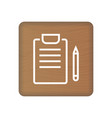 medical records concept icon on wooden blocks vector image