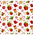 merry christmas seamless pattern decoration for vector image vector image