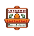 Mexican restaurant icon or emblem vector image vector image