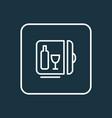 minibar icon line symbol premium quality isolated vector image
