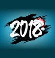 new year numbers 2018 vector image