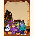 parchment with halloween topic 4 vector image vector image