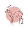 polygonal antelope silhouette geometric antelope vector image vector image