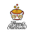 pot with happy halloween vector image vector image