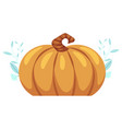 pumpkin flat icon isolated vector image vector image