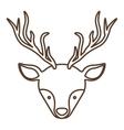 Reindeer of merry Christmas design vector image vector image