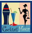 Retro Cocktail background vector image vector image