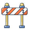 road block icon cartoon style vector image vector image