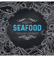 seafood design vector image vector image