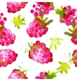seamless pattern of watercolor raspberry vector image vector image