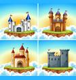 set castle background vector image