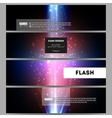 Set of modern banners Flashes against dark vector image vector image