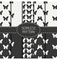 Set of monochrome abstract seamless pattern with vector image vector image