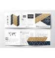 Set of tri-fold brochures square design templates vector image vector image