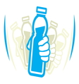 Shake bottle vector image vector image
