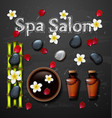spa background with stone bottle