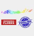 spectrum service flores islands indonesia map vector image vector image
