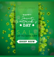 st patricks day sale design with clover and vector image vector image