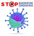 stop 2019-ncov covid-19 coronavirus vector image