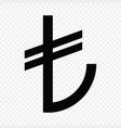 turkish lira sign vector image vector image