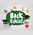 welcome back to school concept light icons set vector image