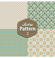 set retro patterns vector image