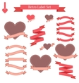 Set of retro labels ribbons banners and tags vector image