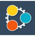 Infographic template cogwheel vector image