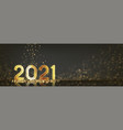 2021 happy new year horizontal banner vector image vector image
