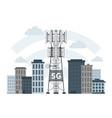 5g mast base stations in innovative smart city