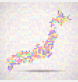 abstract map of japan colorful dots vector image