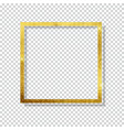abstract shiny golden frame luxury on transpare vector image vector image