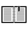 architect notebook icon simple style vector image vector image