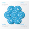 army outline icons set collection of fugitive vector image vector image