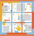 big editable collage for social media post vector image vector image