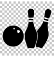 Bowling sign Flat style black icon vector image vector image