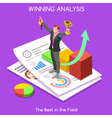 Business 12 People Isometric vector image vector image