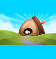 cartoon funny cute nuts with eye - vector image